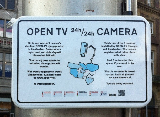 Open TV sign